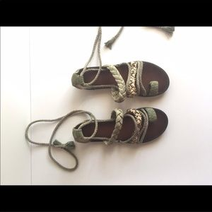 65e07dd06088 Anthropologie Shoes - Bacio 61 Anthropologie tie up sandals